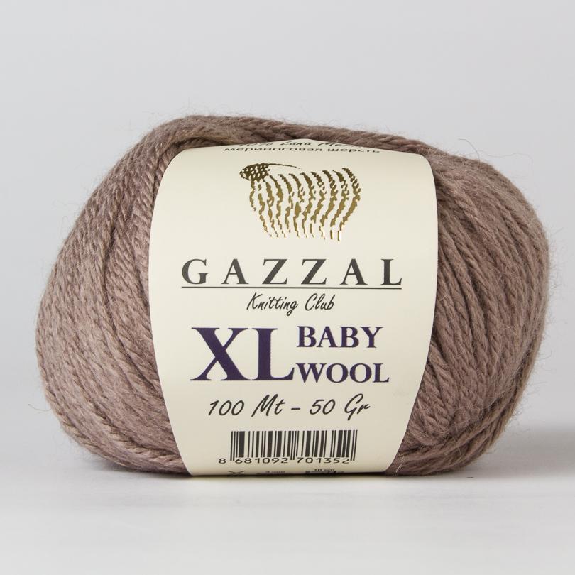Włóczka BABY WOOL XL Gazzal - kolor 835XL brąz