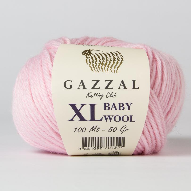 Włóczka BABY WOOL XL Gazzal - kolor 836XL różowy
