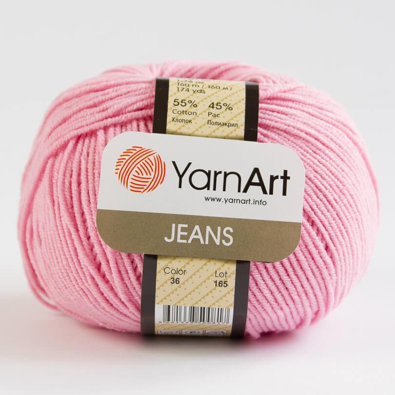 Włóczka JEANS YarnArt - kolor 36 różowy