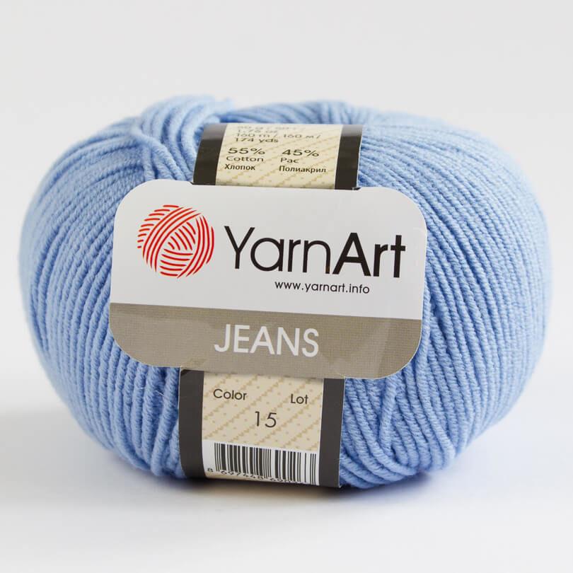 Włóczka JEANS YarnArt - kolor 15 niebieski