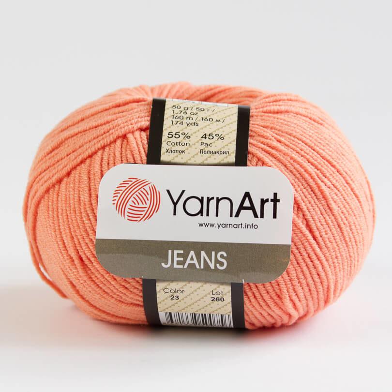 Włóczka JEANS YarnArt - kolor 23 pomarańczowy