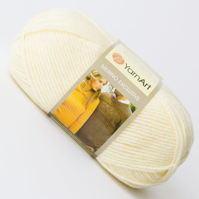 Włóczka Merino Exclusive - YarnArt - kolor 752 ecru