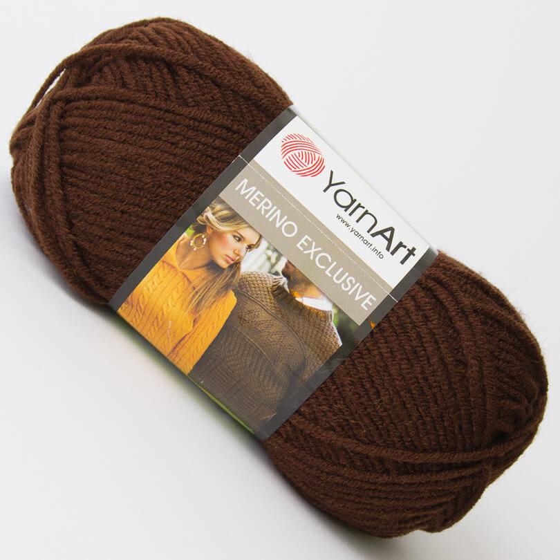 Włóczka Merino Exclusive - YarnArt - kolor 767 brązowy