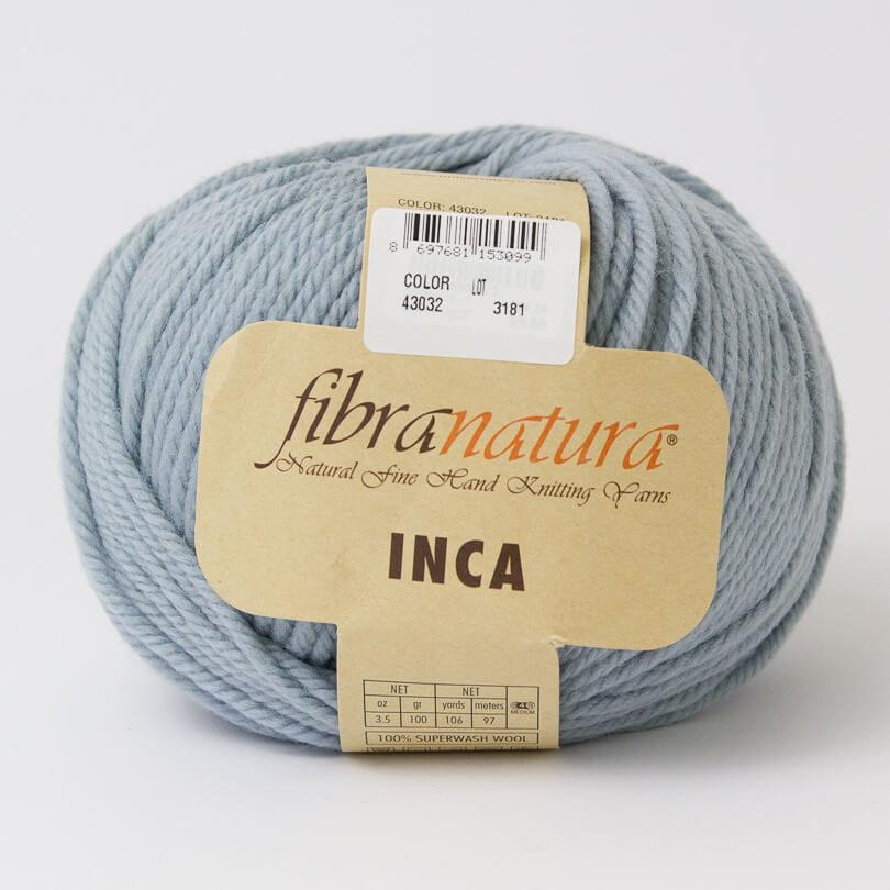 Włóczka INCA - Fibra Natura - kolor 43032 szaroniebieski