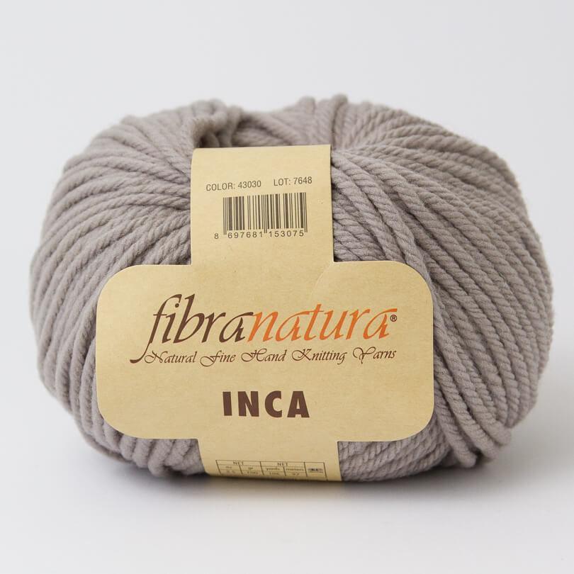 Włóczka INCA - Fibra Natura - kolor 43030 szary